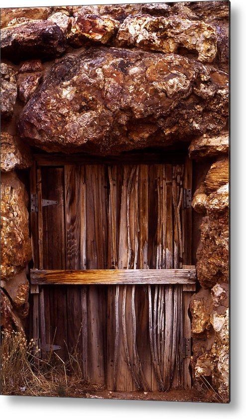 Door Metal Print featuring the photograph Door by Karen Ulvestad
