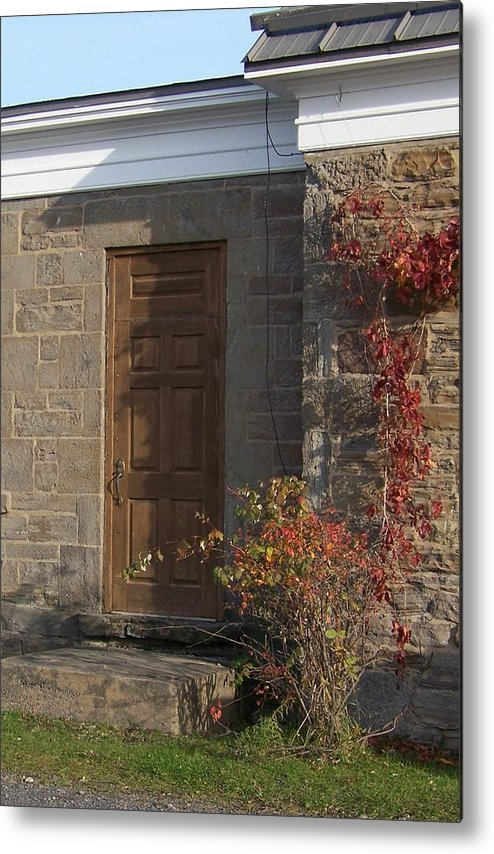 Stone Metal Print featuring the photograph Doorway At The Stone House - Photograph by Jackie Mueller-Jones