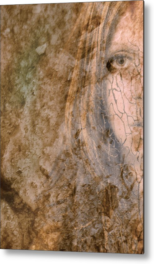 Abstract Metal Print featuring the photograph Earth Maiden by Steve Parrott