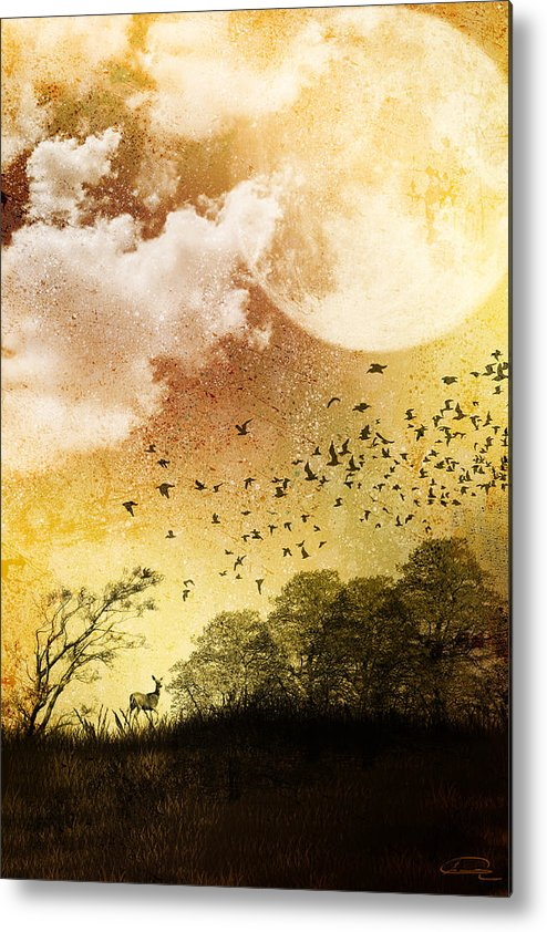Grunge Metal Print featuring the painting Every Day Somewhere by Emma Alvarez