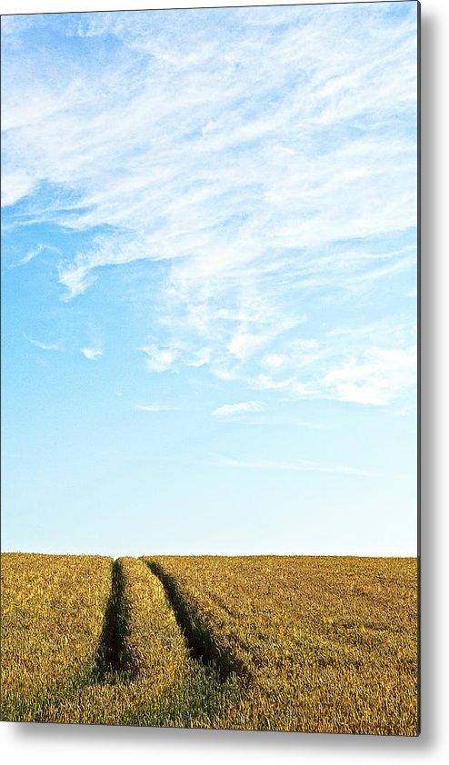 Europe Metal Print featuring the photograph Farmland To The Horizon 2 by Heiko Koehrer-Wagner