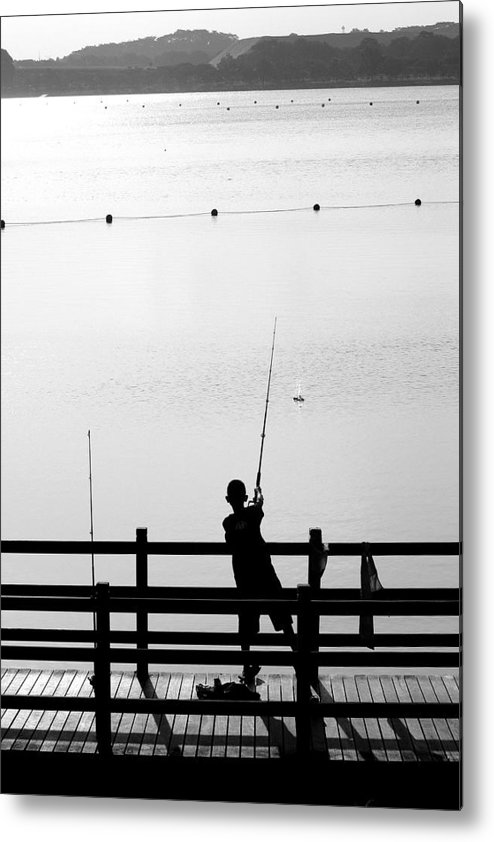 Activity Metal Print featuring the photograph Fishing Boy by Mark Mah