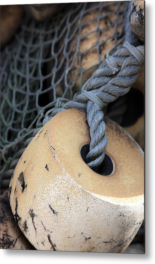 Fishing Metal Print featuring the photograph Fishing Net by Mary Haber