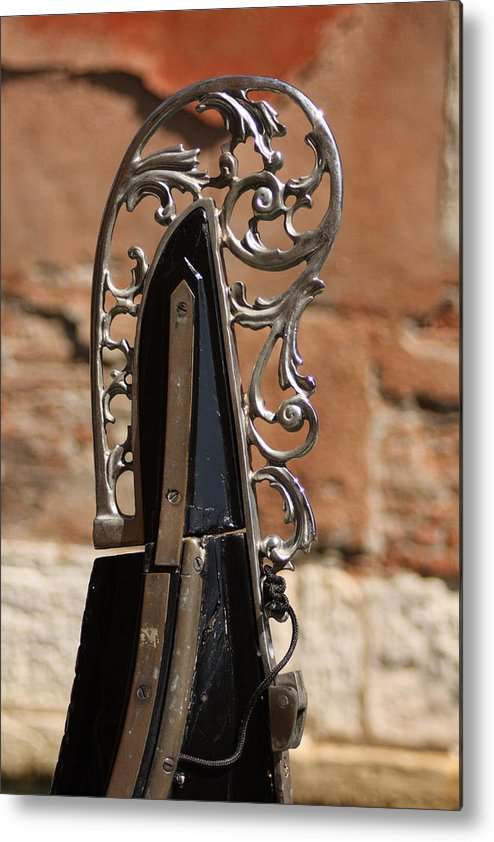 Venice Metal Print featuring the photograph Front Piece Of Gondola In Venice by Michael Henderson