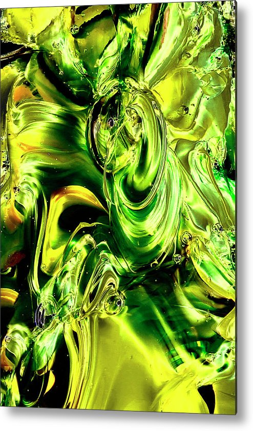 Digital Art Metal Print featuring the photograph Green Glass by David Patterson