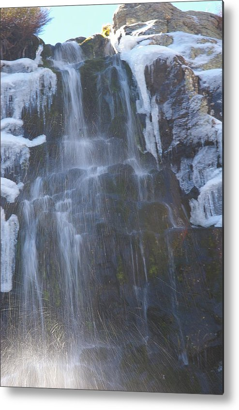 Waterfalls Metal Print featuring the photograph Icy Falls by Cynthia Cox Cottam