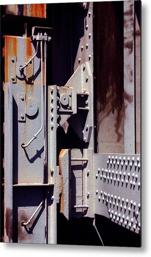 Abstract Metal Print featuring the photograph Industrial Background by Carlos Caetano