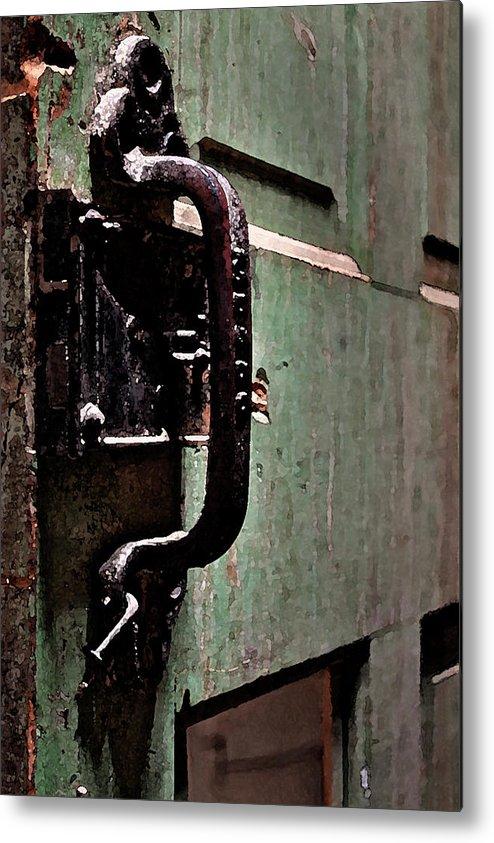 Iron Metal Print featuring the photograph Iron Ic Door Handle by David Kehrli