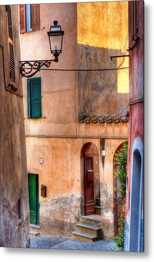 Old Metal Print featuring the photograph Italian Alley by Silvia Ganora