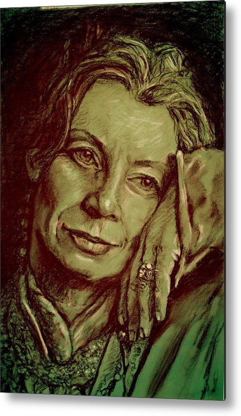 Portrait Artwork Metal Print featuring the painting Jacqueline by Dan Earle
