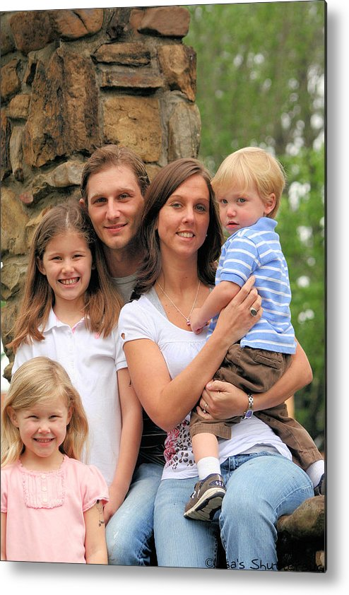 Metal Print featuring the photograph Jennifer And Family by Lisa Johnston