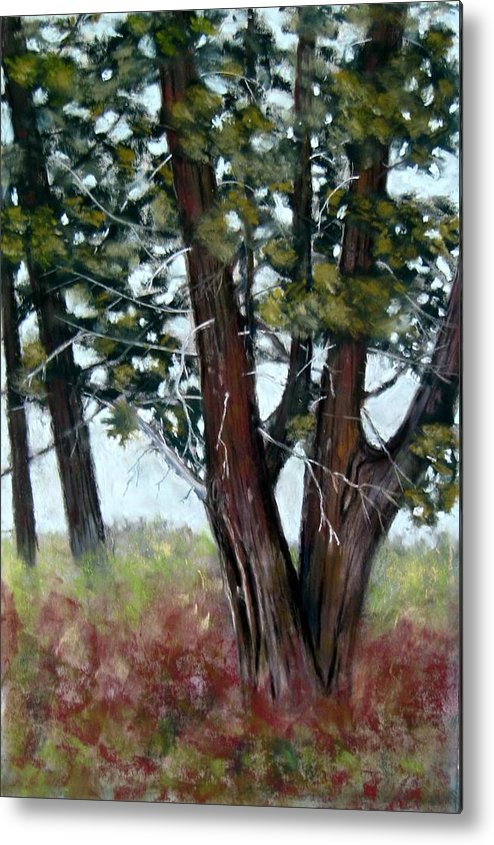 Landscape Metal Print featuring the painting Juniper by Carl Capps