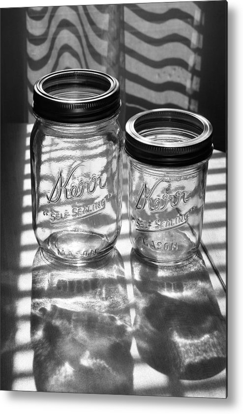 Glass Metal Print featuring the photograph Kerr Jars by Steve Augustin