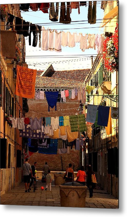 Venice Metal Print featuring the photograph Laundry Day In Venice by Michael Henderson