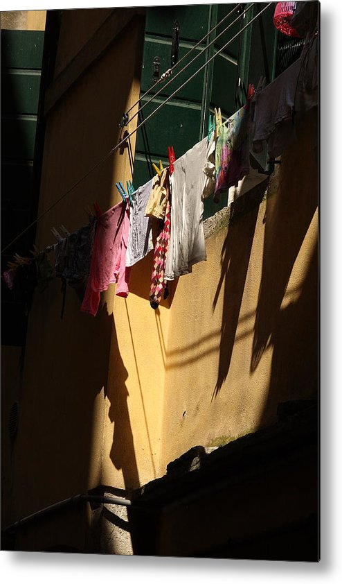 Metal Print featuring the photograph Laundry In The Sun In Venice by Michael Henderson
