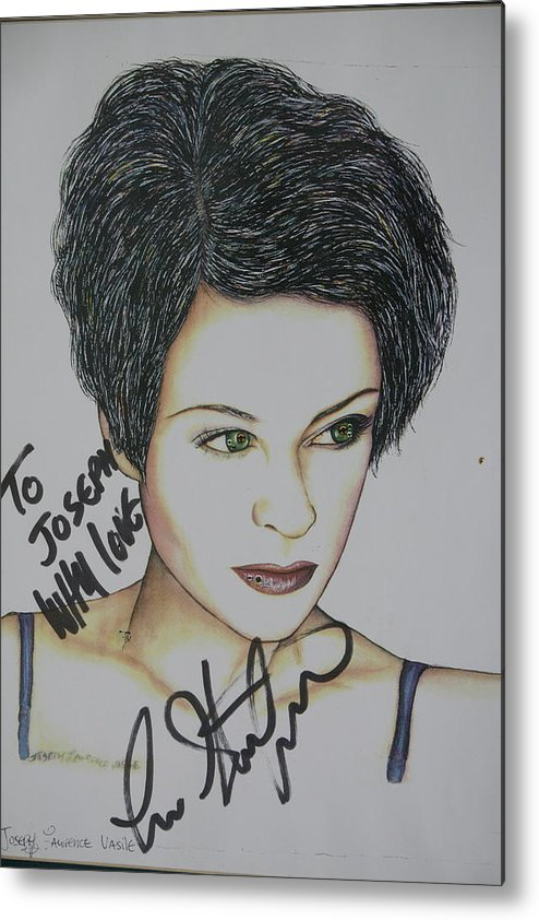 Lisa Stansfield Metal Print featuring the mixed media Lisa by Joseph Lawrence Vasile