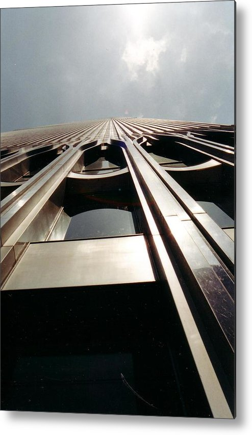 New York Metal Print featuring the photograph Looking Up by April Camenisch