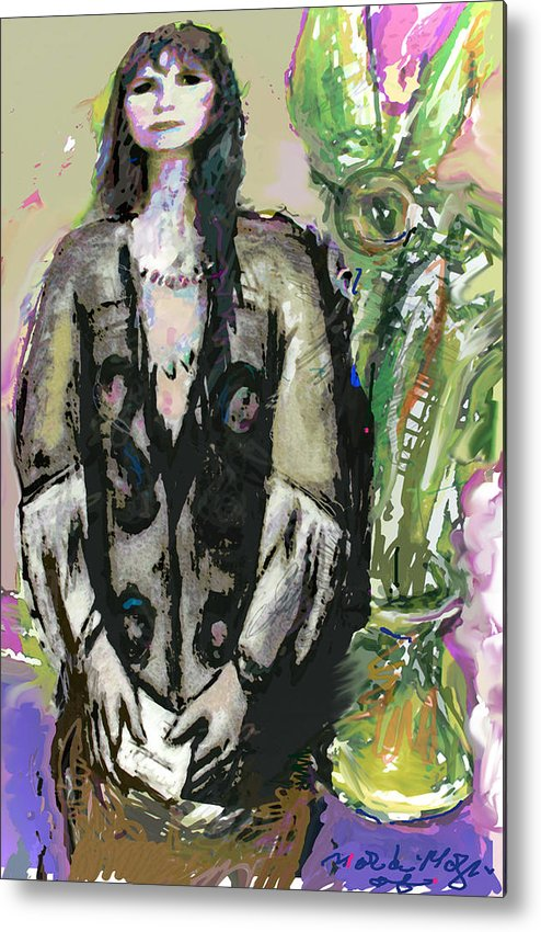 Litter Metal Print featuring the painting Missing You 3 by Noredin Morgan