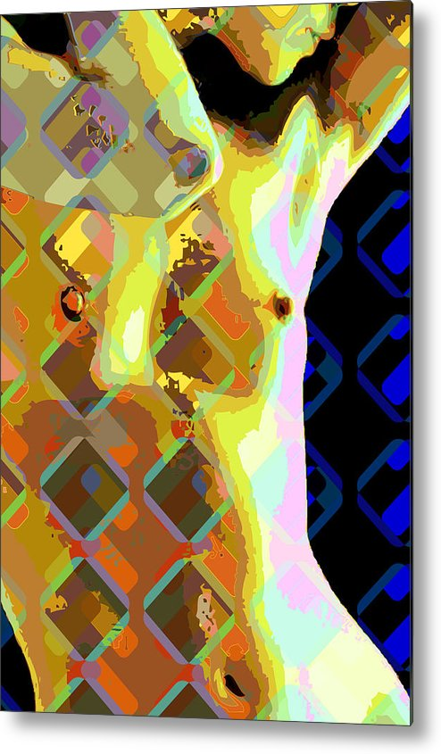 Nude Metal Print featuring the digital art Nude 1a by Scott Davis