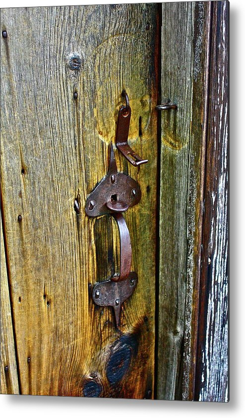 Antique Metal Print featuring the photograph Old Door by Diana Hatcher