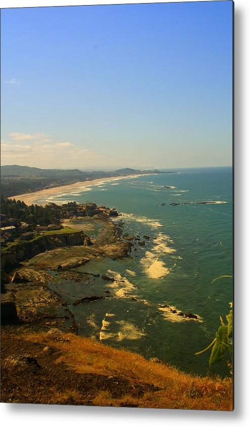 Coast Metal Print featuring the photograph Oregon Coast Oo61 by Mary Gaines
