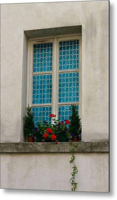 Metal Print featuring the photograph Paris - Window by Jennifer McDuffie