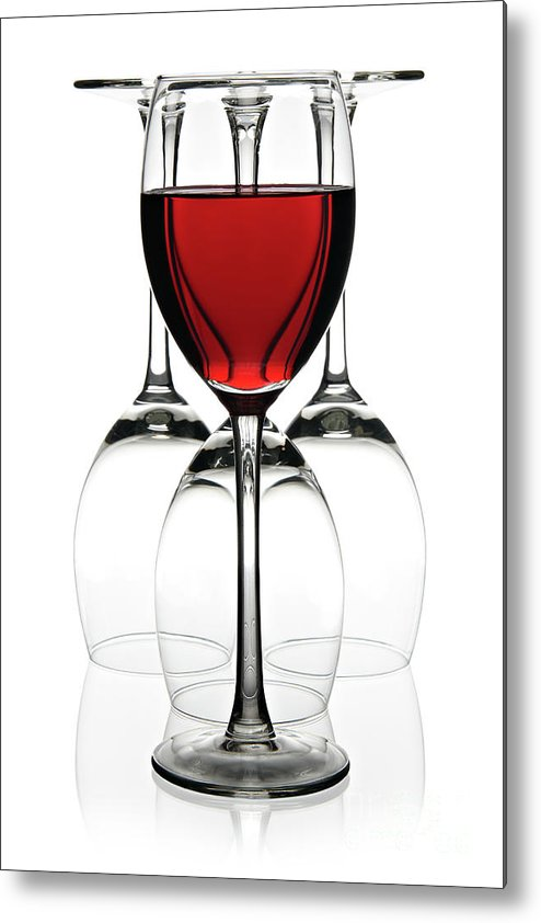 Wine Metal Print featuring the photograph Red Wine by Pics For Merch