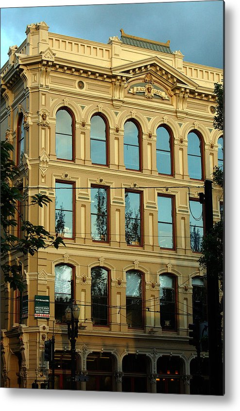 Portland Oregon Metal Print featuring the photograph Reflecting On Portland by Heather S Huston