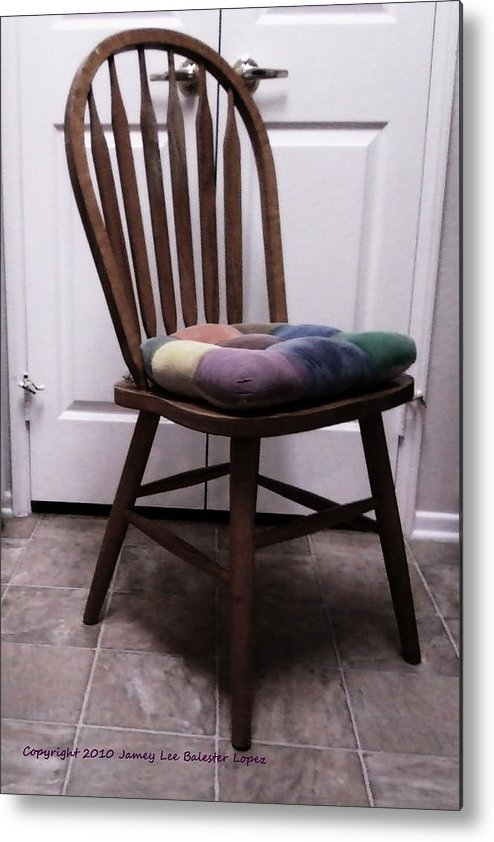 Chair Metal Print featuring the photograph Rest A While by Jamey Balester
