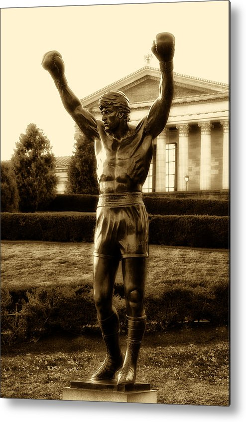 Sports Metal Print featuring the photograph Rocky - Heart Of A Champion by Bill Cannon