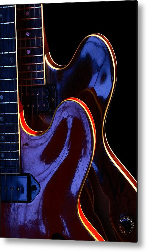 Guitar Metal Print featuring the photograph Screaming Guitars by Art Ferrier