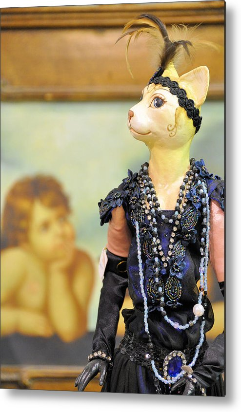 Mannequins Metal Print featuring the photograph Secret Admirer by Jan Amiss Photography