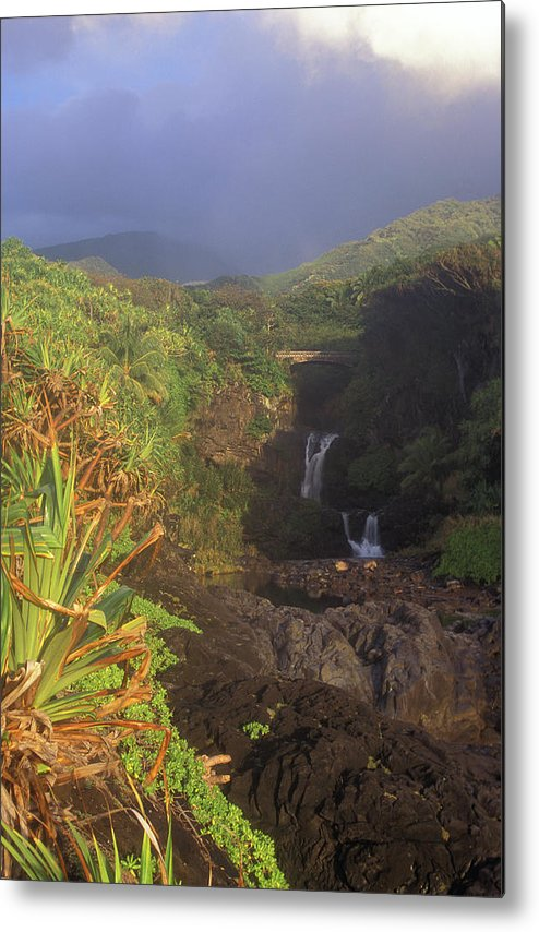Hawaii Metal Print featuring the photograph Seven Sacred Pooling Morning by John Burk