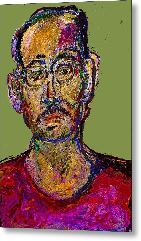 Self Portrait Metal Print featuring the painting Sp200508 by Noredin Morgan
