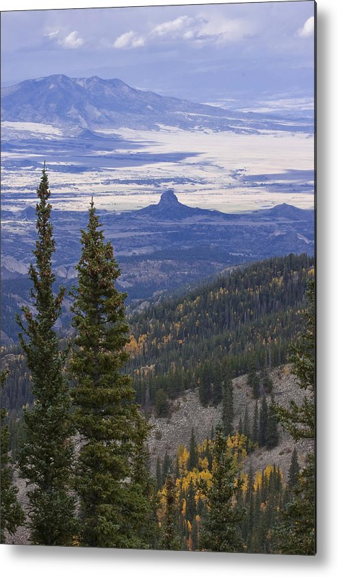 Black Mesa Metal Print featuring the photograph Spanish Peaks by Charles Warren