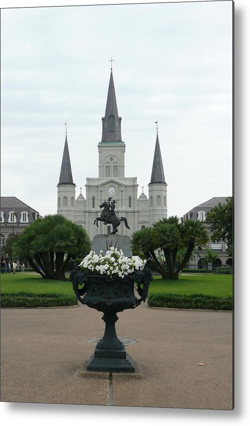 New Orleans Metal Print featuring the photograph St. Louis Cathedral New Orleans by Kathy Schumann