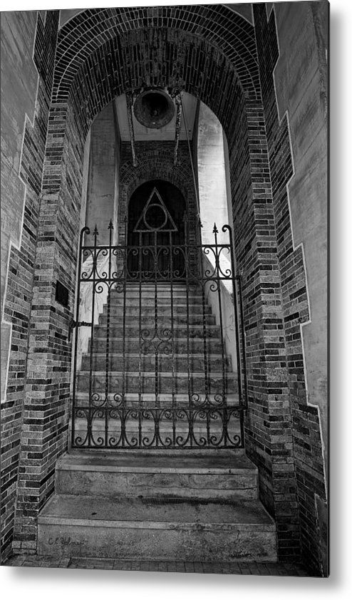 Stairs Metal Print featuring the photograph Stairs Beyond B-w by Christopher Holmes
