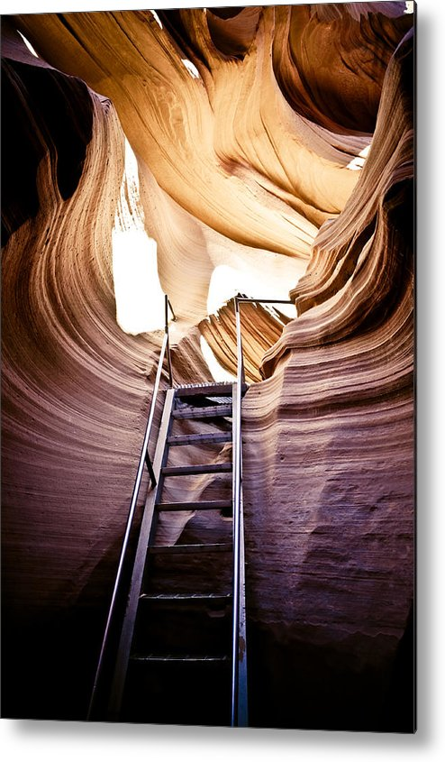 Canyon Metal Print featuring the photograph Stairs From Chaos by Scott Sawyer
