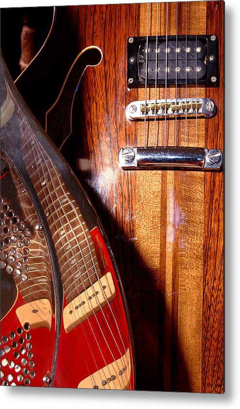 Guitar Metal Print featuring the photograph Steel And Wood 1 by Art Ferrier