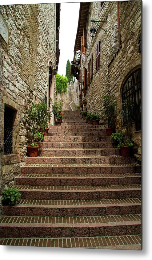Italy Metal Print featuring the photograph Steps To The Sky by Roger Mullenhour