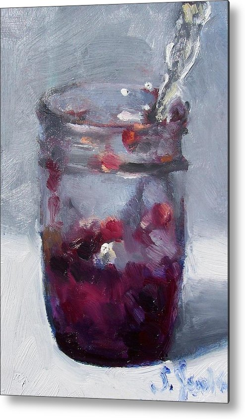 Paintings Metal Print featuring the painting Strawberry Jam by Susan Jenkins