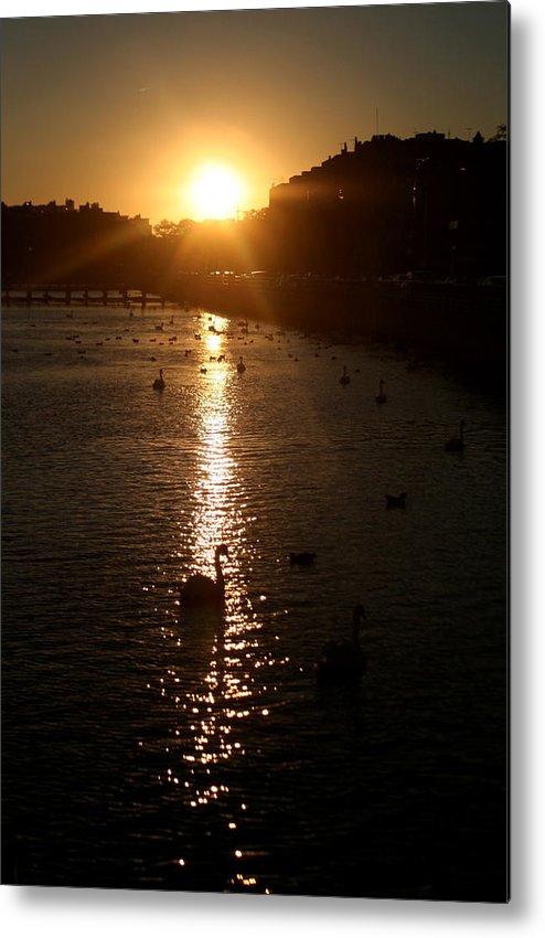 Sunset Metal Print featuring the photograph Sun Setting In Sheepshead Bay by Jason Hochman