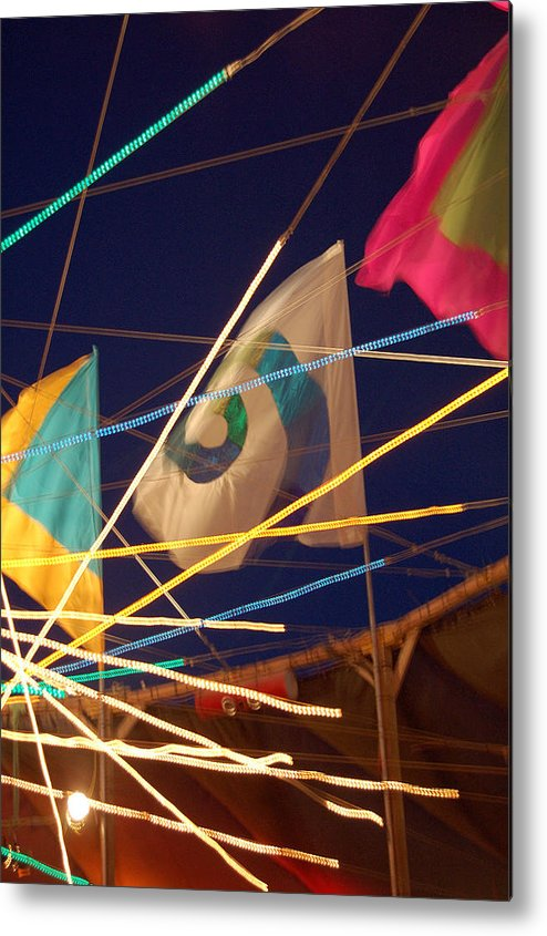 Flags Metal Print featuring the photograph Surreality by Heather S Huston