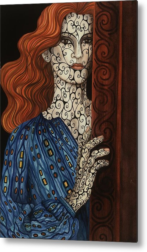 Metal Print featuring the painting The Assessment by Tina Blondell