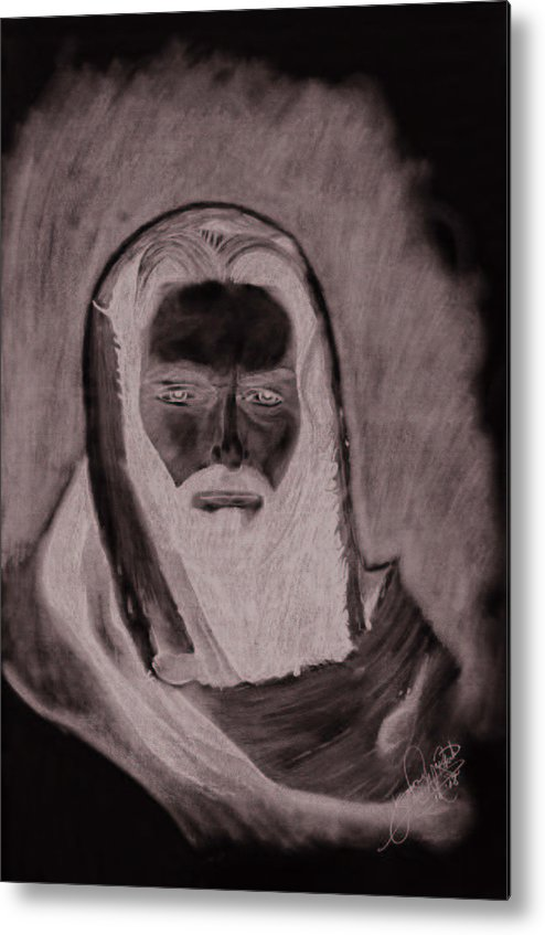Portrait Metal Print featuring the drawing The Good Shepherd by Jason McRoberts
