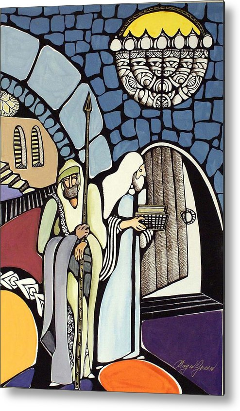 Metal Print featuring the painting The Great Synagogue Of Jerusalem by Maya Green
