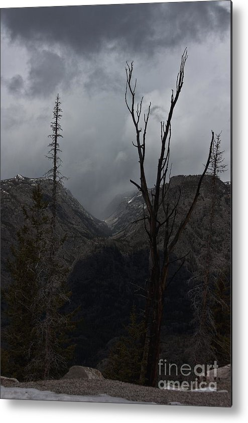 Wyoming Metal Print featuring the photograph The Mood Of Weather by Linda Ebarb