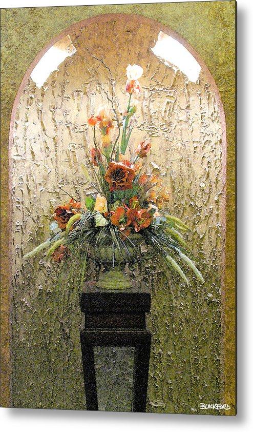 Flowers Metal Print featuring the digital art Theater Flower Arrangement by Al Blackford