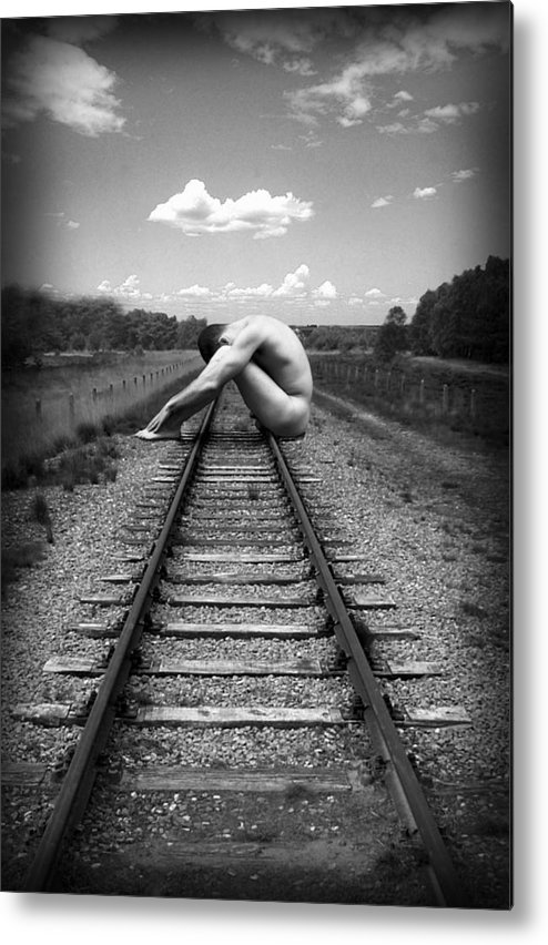 Photo Collage Metal Print featuring the photograph Tracks by Chance Manart