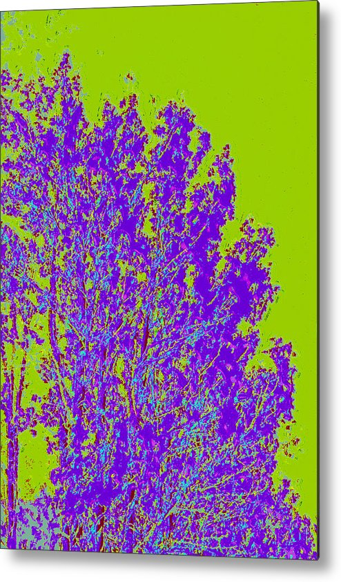 Metal Print featuring the digital art Tree Leaves D4 by Modified Image